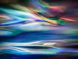 Blå lagun Konst på metall av Ursula Abresch