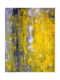 Grey And Yellow Abstract Art Painting Metal Print by  T30Gallery