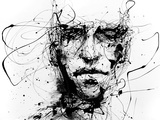 Lines Hold The Memories Metalldrucke von Agnes Cecile