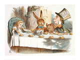 The Mad Hatter's Tea Party, 1890 (Col Version 1) Posters av John Tenniel