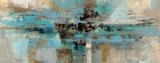 Morning Fjord Bedruckte aufgespannte Leinwand von Silvia Vassileva