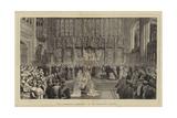 The Wedding Ceremony in St George's Chapel Impressão giclée por Adrien Emmanuel Marie