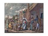 Outdoor Eating. Etching from around 1620. Food and Drink Giclée-Druck von Adriaen Pietersz van de Venne