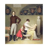 The Artist and His Family, 1813 Giclée-tryk af Adam Buck