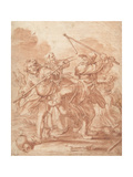 Fighting Peasants, 1600-62 Giclée-Druck von Adriaen Pietersz van de Venne
