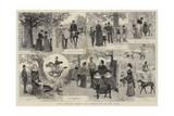 Some Studies During an Afternoon in the Park Impressão giclée por Adrien Emmanuel Marie