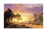 The Oregon Trail, 1869 Giclée-tryk af Albert Bierstadt