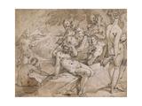 No.3146 Diana and Callisto from Ovid's `Metamorphosis`, Ii, P.442-53, C.1595 Lámina giclée por Abraham Bloemaert