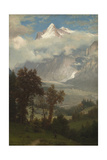 View of the Wetterhorn from the Valley of Grindelwald Giclée-tryk af Albert Bierstadt