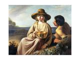 Shepherd and Shepherdess Lámina giclée por Abraham Bloemaert