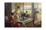 Women Having Tea Giclée-tryk af Albert Lynch