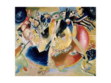 Improvisation of Cold Forms, 1914 Art sur métal  par Wassily Kandinsky