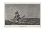 The Courier of the Desert Reproduction procédé giclée par Alberto Pasini
