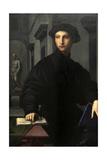 Ugolino Martelli (1519-1592). 1536-1537. Portrait by Il Bronzino (1503-1572) Giclée-tryk af Agnolo Bronzino