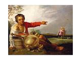 Shepherd Boy Pointing at Tobias and the Angel, C.1625-30 Lámina giclée por Abraham Bloemaert