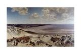 Caravan in Desert Giclee Print by Alberto Pasini