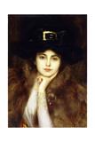Portrait of an Elegant Lady Giclée-tryk af Albert Lynch