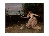In Deep Thought, 1881 Giclee Print by Alfred Emile Stevens