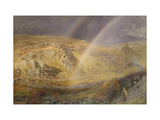 A November Rainbow, Dolwyddelan Valley, November 11 1866, 1 P.M. 1866, 1866 Giclee Print by Alfred William Hunt