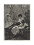 Politics in the Nursery, the Mp's Daughter Addressing the Electors Giclee Print by Alexander M. Rossi