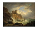 Tantallon Castle with the Bass Rock, C.1816 Giclée-tryk af Alexander Nasmyth