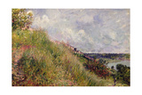 The Seine, View of the Slopes of By, 1881 Giclee Print by Alfred Sisley