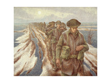 Infantry Near Nijmegen, C.1940 Giclée-tryk af Alex Colville