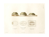 Houses of the Society Islands Giclee Print by Ambroise Tardieu