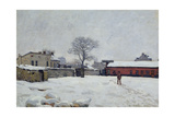 Under Snow: the Farmyard at Marly-Le-Roi, 1876 Giclee Print by Alfred Sisley
