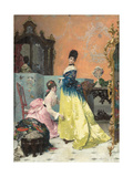 The Fitting Giclee Print by Alfred Emile Stevens