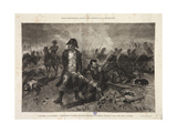 The Burial of the Flag, Episode of the Battle of Waterloo, Engraved by Jules Claretie, 1879 Giclee Print by Alphonse Marie de Neuville