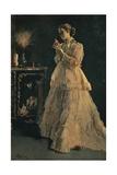 La Dame En Rose, 1866 Giclee Print by Alfred Stevens