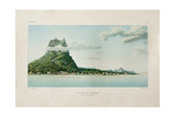 View of the Island of Bora Bora Giclee-trykk av Ambroise Tardieu