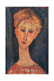Young Girl with Earrings Giclee Print by Amedeo Modigliani