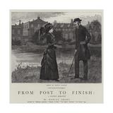 From Post to Finish, a Racing Romance Gicléetryck av Hopkins, Arthur