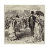 The All-England Croquet Club at Wimbledon Gicléetryck av Hopkins, Arthur
