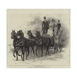A Drive to Hurlingham Gicléetryck av Hopkins, Arthur