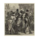A Fashionable Charity Bazaar Gicléetryck av Hopkins, Arthur