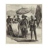 The Grand Chapter of the Star of India at Calcutta Gicléetryck av Hopkins, Arthur