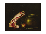 Still Life with Cutlets Giclee Print by Antoine Vollon