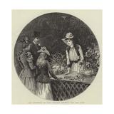 The Kermesse at Nice, Selling Flowers for the Poor Gicléetryck av Hopkins, Arthur