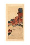 A Gray Day (Houses on a Beach), C.1895 Giclee Print by Arthur Wesley Dow
