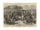 The Ashantee War, General Market, Cape Coast Castle Giclée-tryk af Hopkins, Arthur