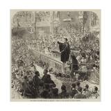 The Easter Volunteer Review at Brighton, Service in the Pavilion on Sunday Morning Gicléetryck av Hopkins, Arthur