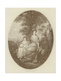 Lady Rushout and Daughter Giclee Print by Angelica Kauffmann