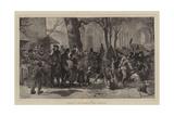 Morning in the Avenue De Paris, Versailles Giclee Print by Arthur Boyd Houghton