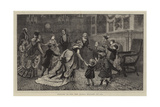 Dancing in the New Year, a Welcome to 1873 Giclee Print by Arthur Boyd Houghton