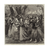 The Revolution in Paris, Celebrating the Proclamation of the Republic on the Boulevard Des Italiens Giclee Print by Arthur Hopkins