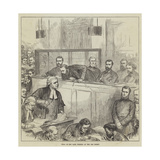 Trial of the Bank Forgers at the Old Bailey Giclee Print by Arthur Hopkins