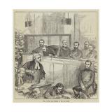 Trial of the Bank Forgers at the Old Bailey Gicléetryck av Hopkins, Arthur